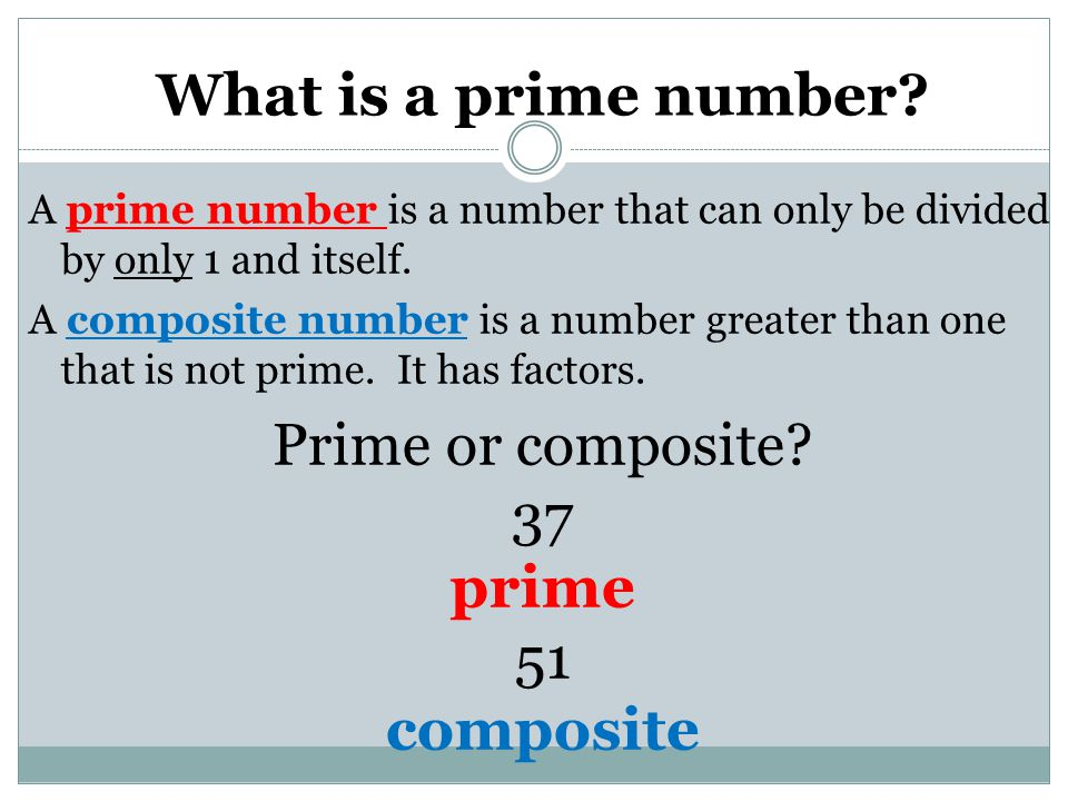 What is a prime number composite