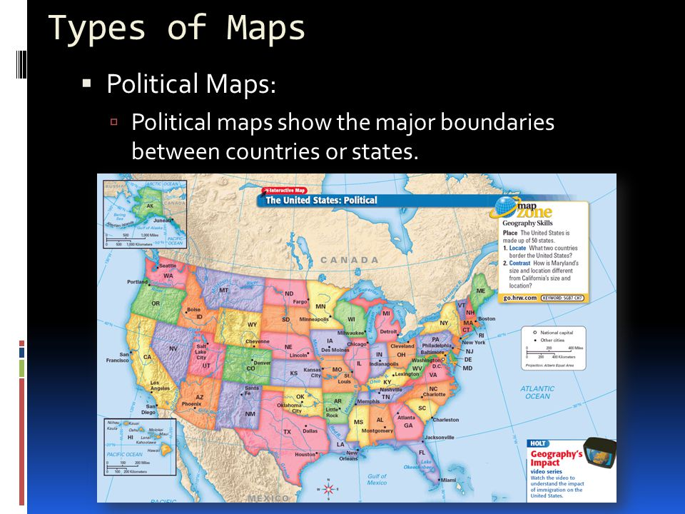 Types of Maps Political Maps: