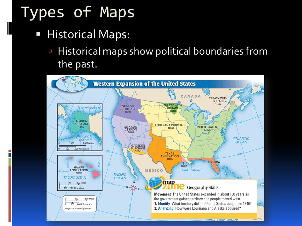 Types of Maps Historical Maps: