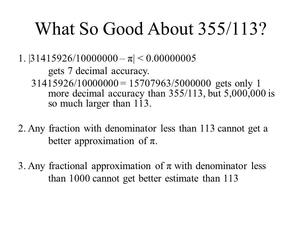 What So Good About 355/113