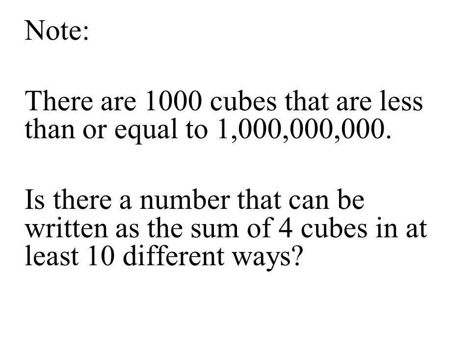 Note: There are 1000 cubes that are less than or equal to 1,000,000,000.