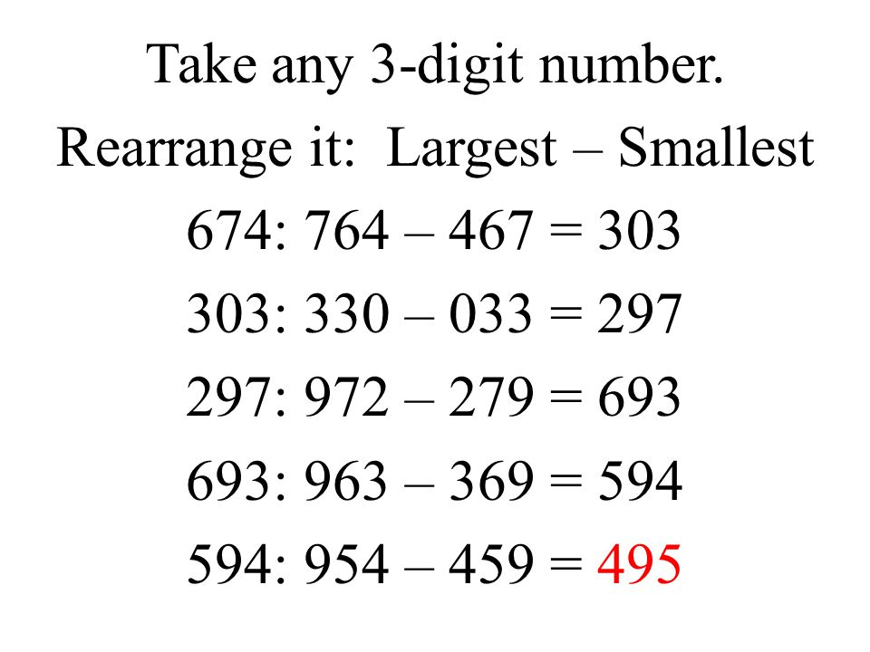Take any 3-digit number.