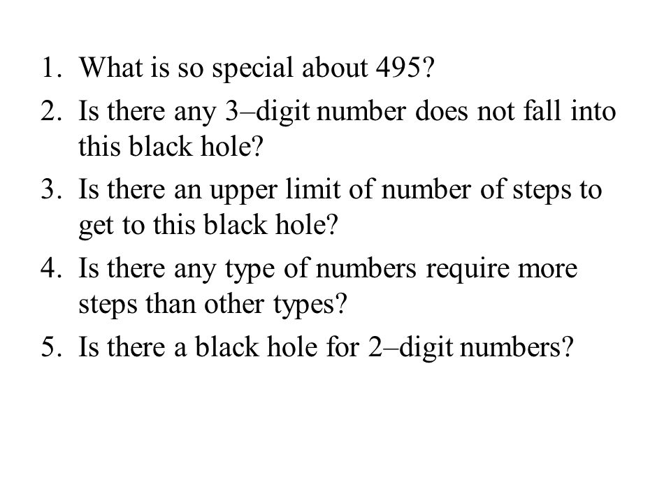 What is so special about 495