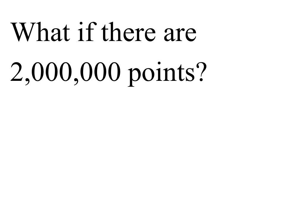 What if there are 2,000,000 points