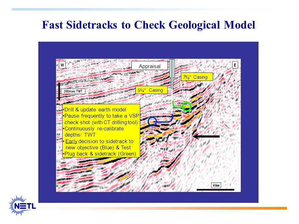 Fast Sidetracks to Check Geological Model