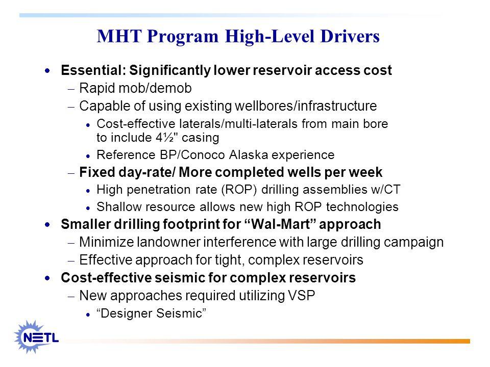 MHT Program High-Level Drivers