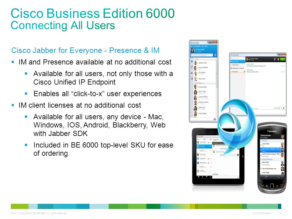 Cisco Business Edition 6000 Connecting All Users