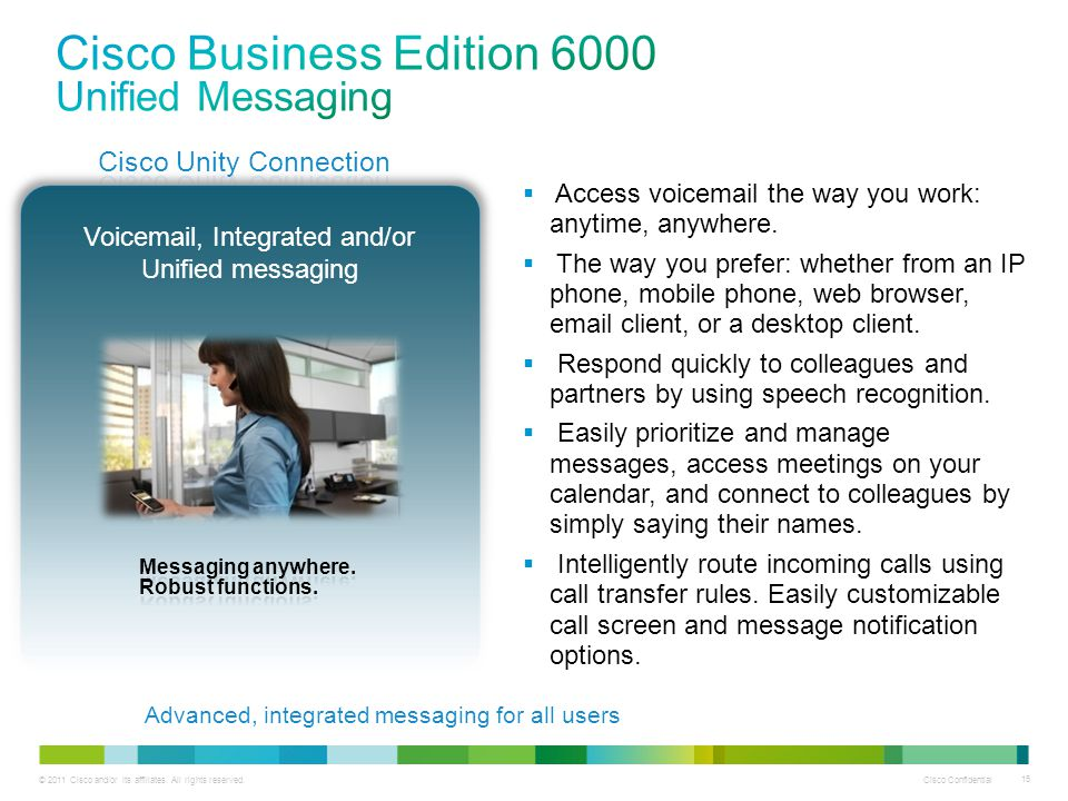Cisco Business Edition 6000 Unified Messaging