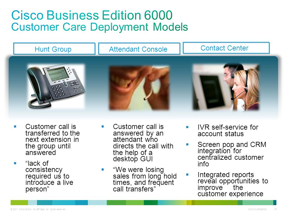 Cisco Business Edition 6000 Customer Care Deployment Models
