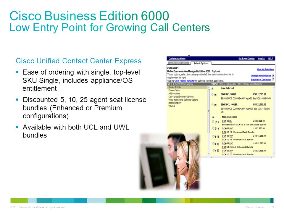 Cisco Business Edition 6000 Low Entry Point for Growing Call Centers
