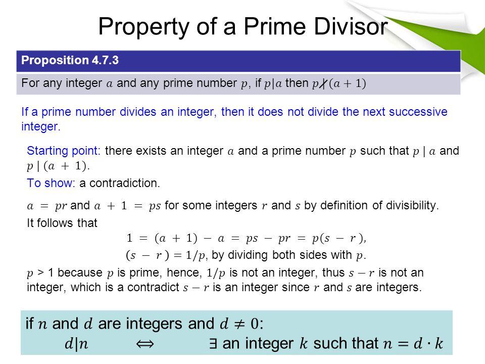 Property of a Prime Divisor