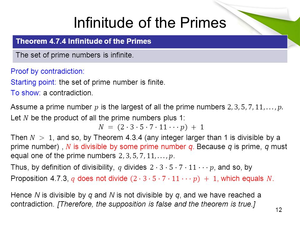 Infinitude of the Primes