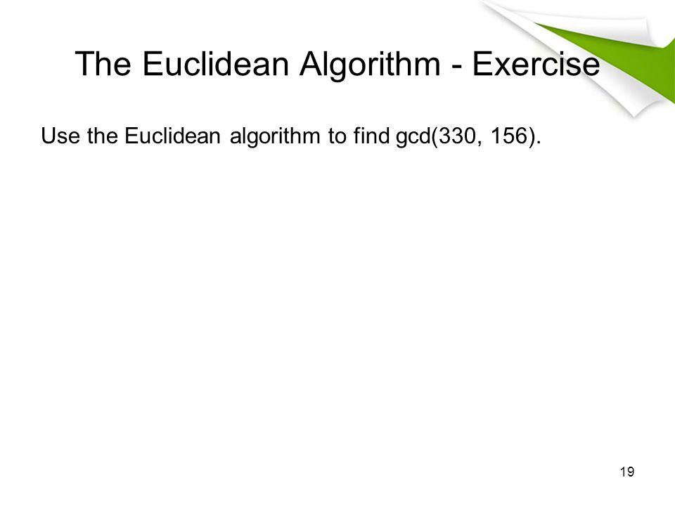 The Euclidean Algorithm - Exercise