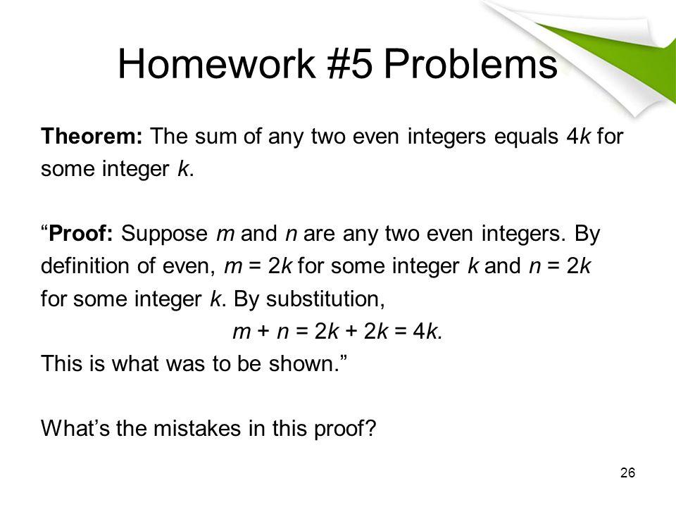 Homework #5 Problems
