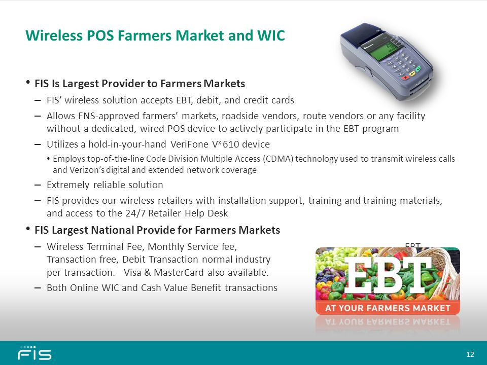 Wireless POS Farmers Market and WIC