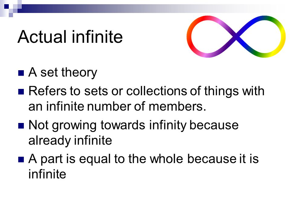 Actual infinite A set theory