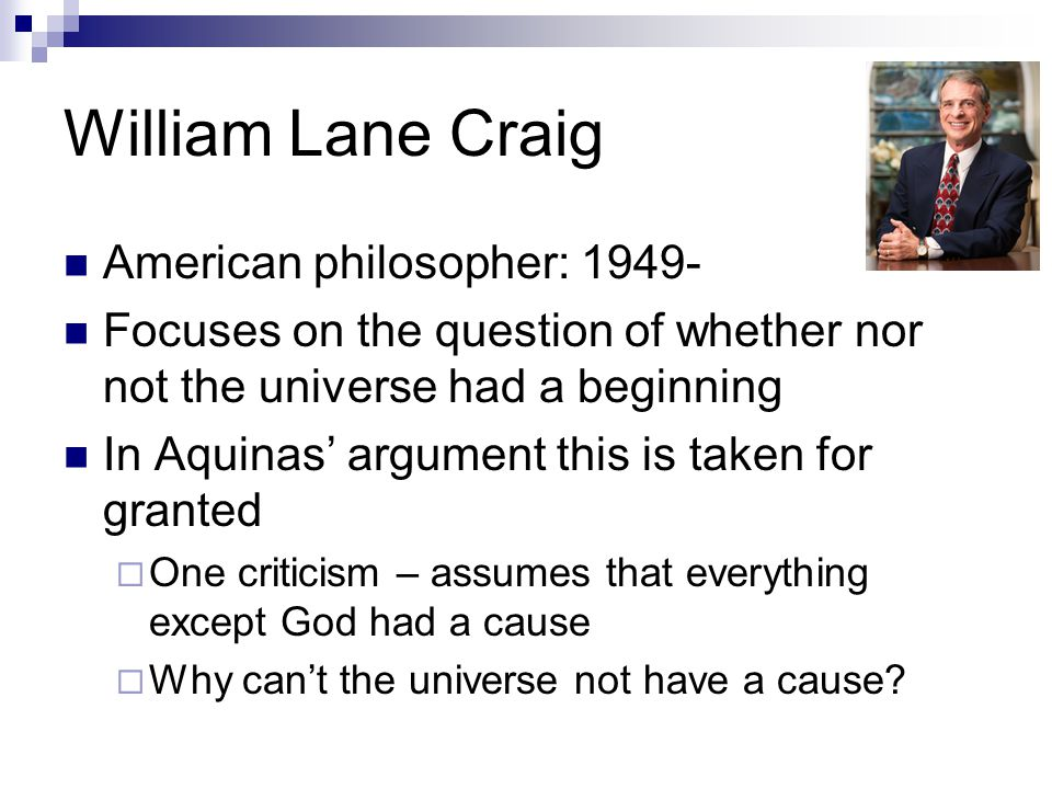 William Lane Craig American philosopher: 1949-
