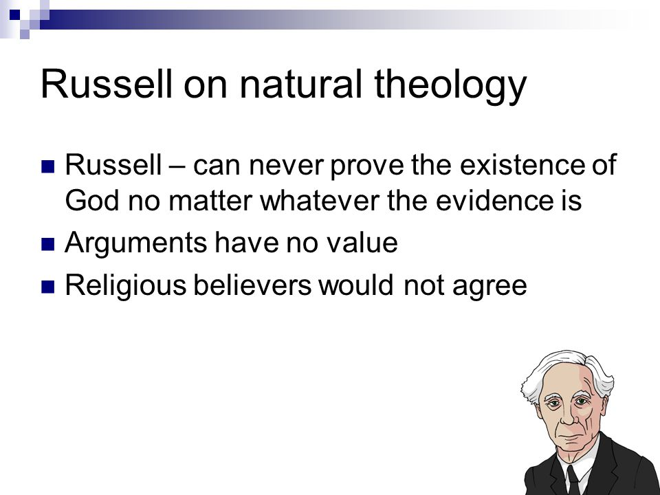 Russell on natural theology