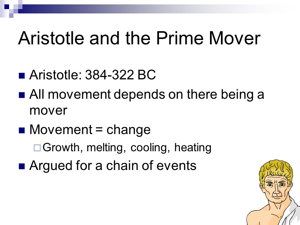 Aristotle and the Prime Mover