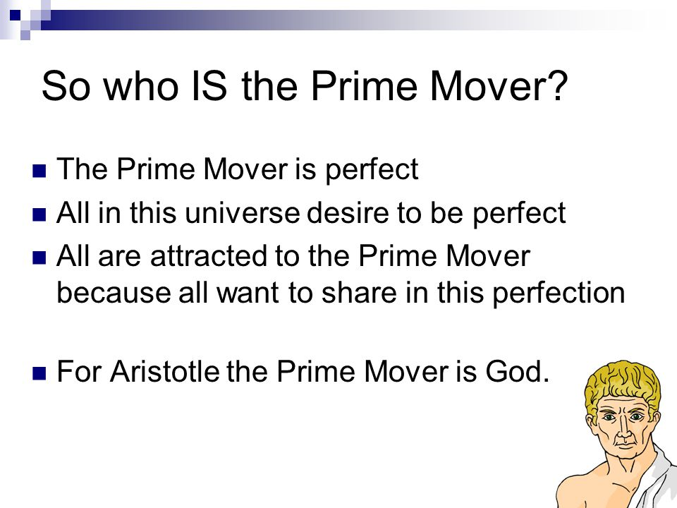So who IS the Prime Mover