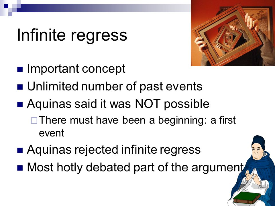 Infinite regress Important concept Unlimited number of past events