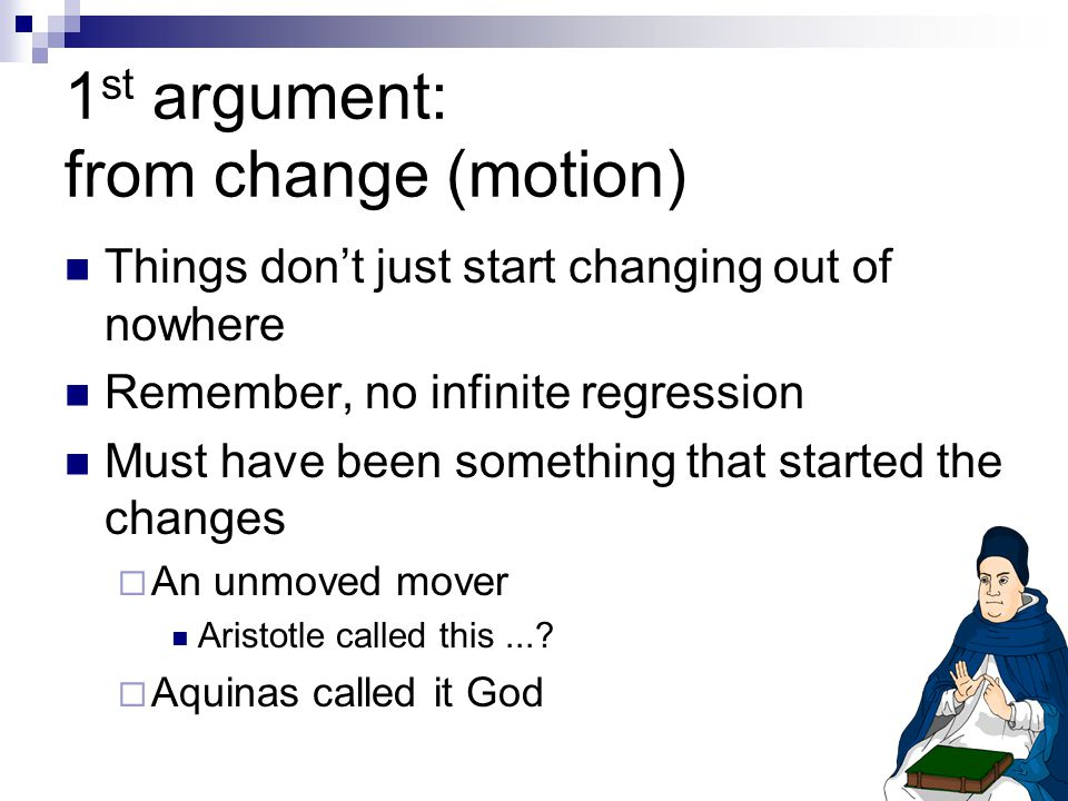 1st argument: from change (motion)