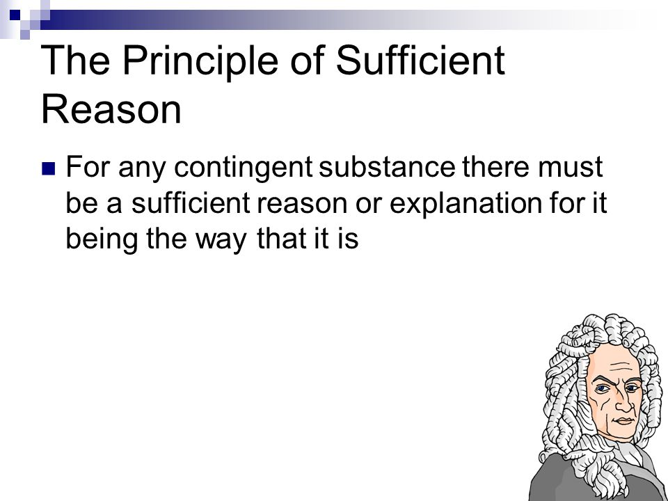 The Principle of Sufficient Reason