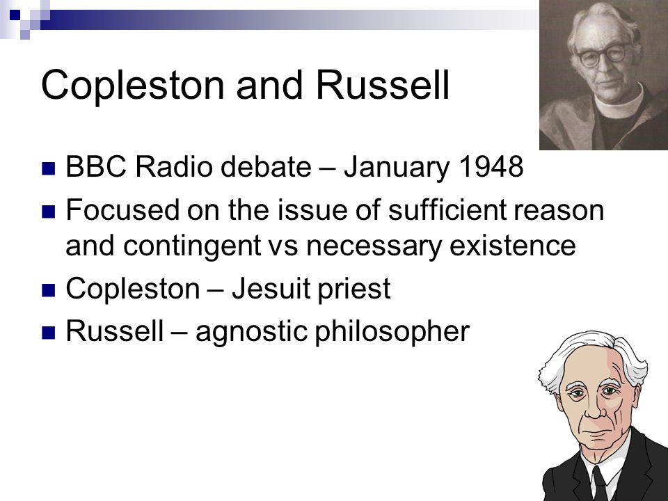 Copleston and Russell BBC Radio debate – January 1948