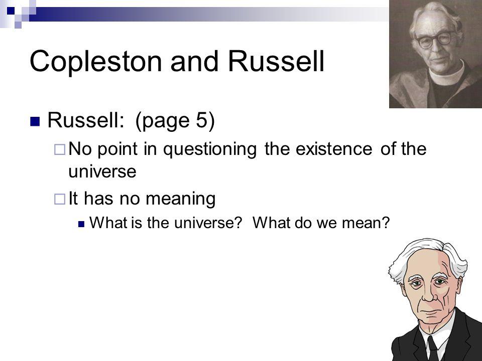 Copleston and Russell Russell: (page 5)