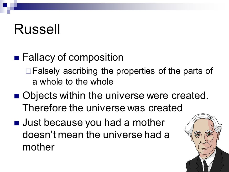 Russell Fallacy of composition