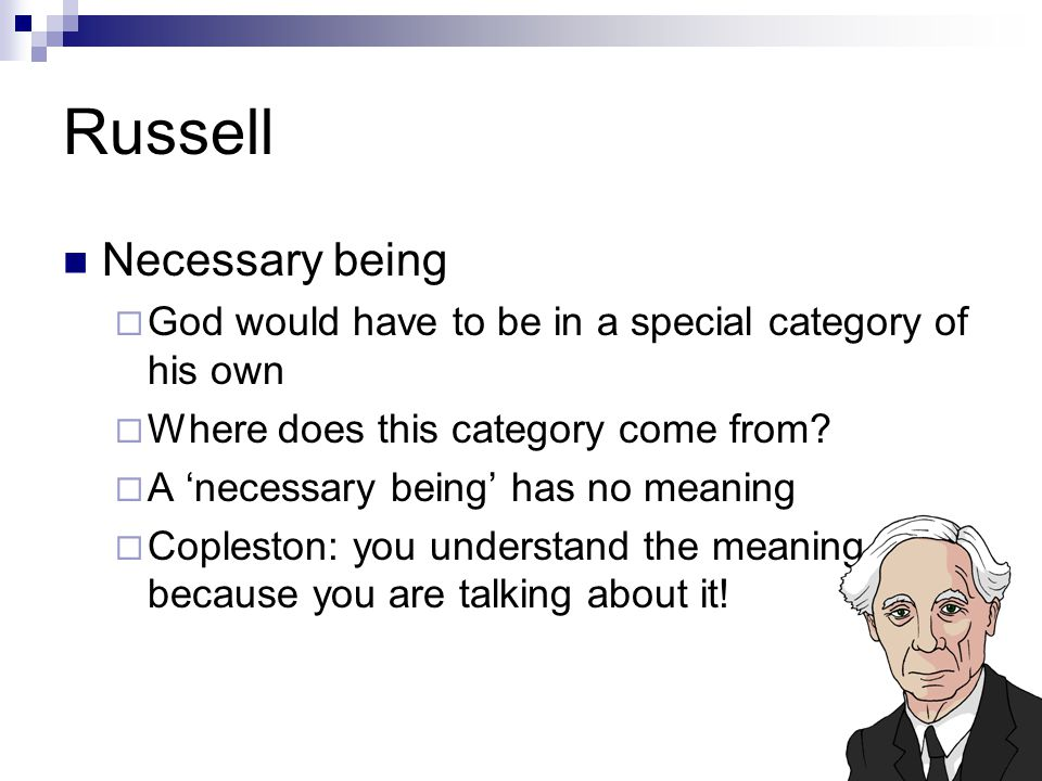 Russell Necessary being