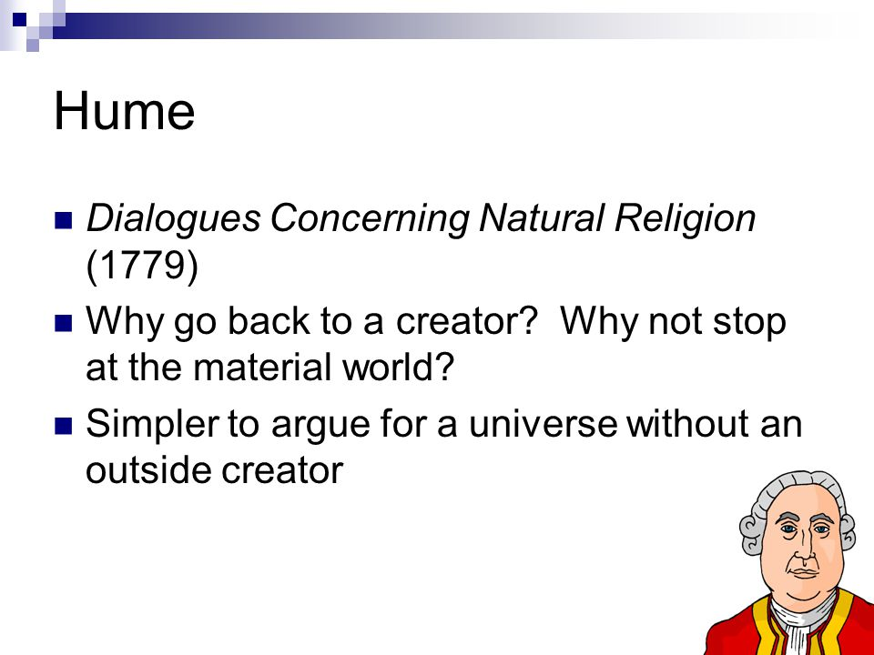 Hume Dialogues Concerning Natural Religion (1779)