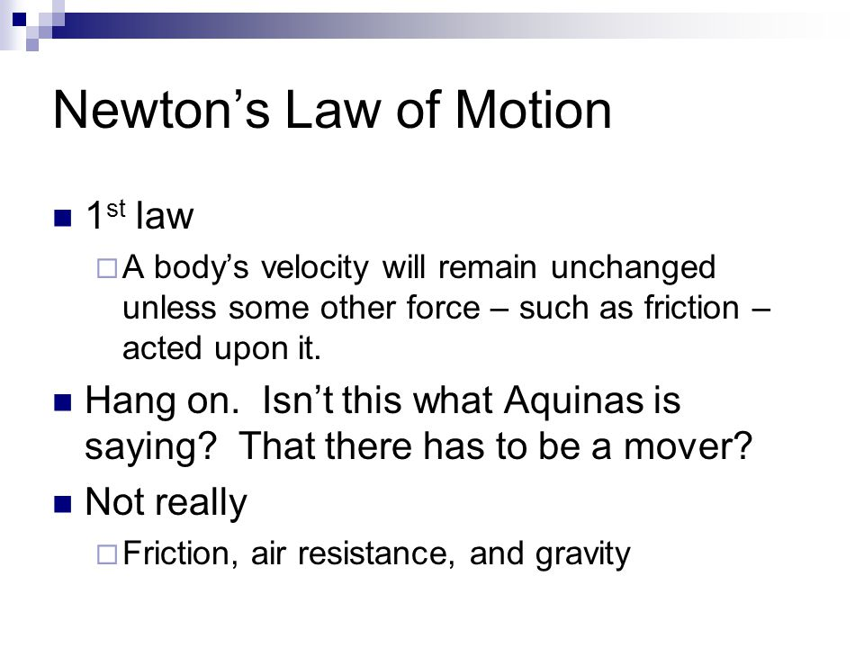 Newton's Law of Motion 1st law