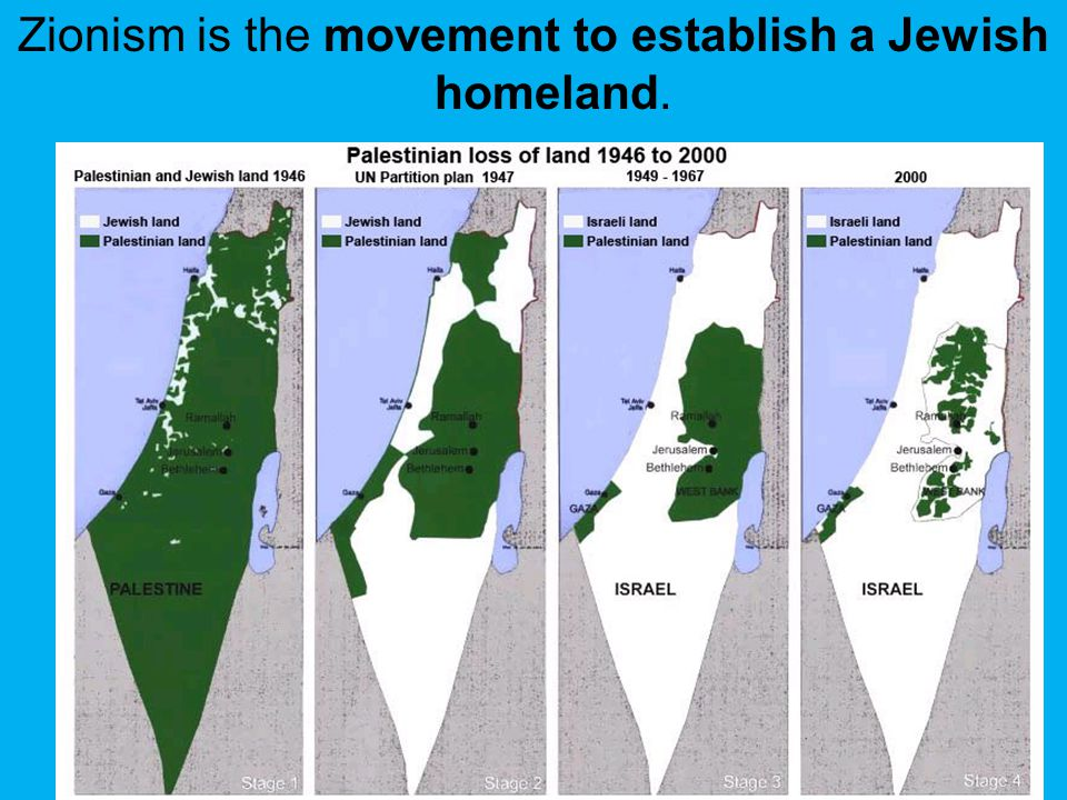 Zionism is the movement to establish a Jewish homeland.