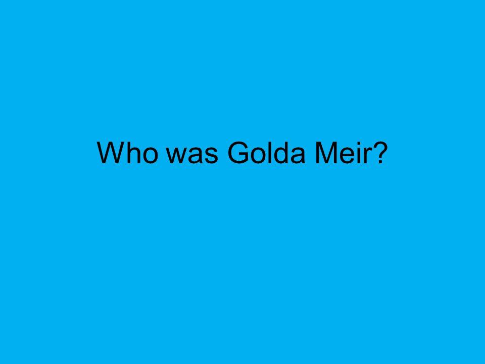 Who was Golda Meir