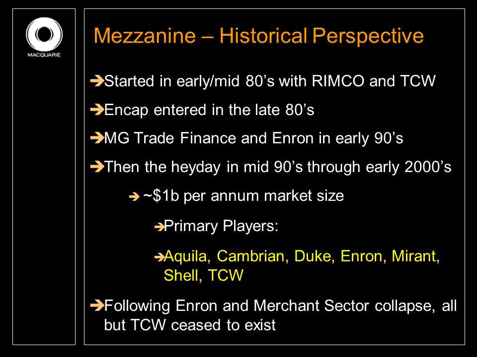 Mezzanine – Historical Perspective