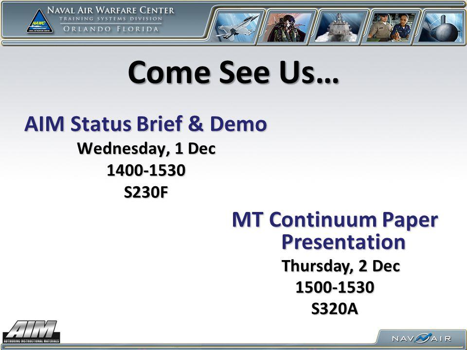 MT Continuum Paper Presentation
