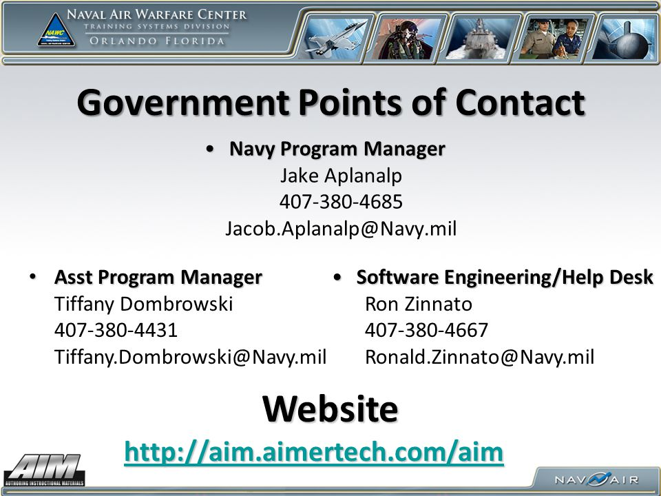 Government Points of Contact
