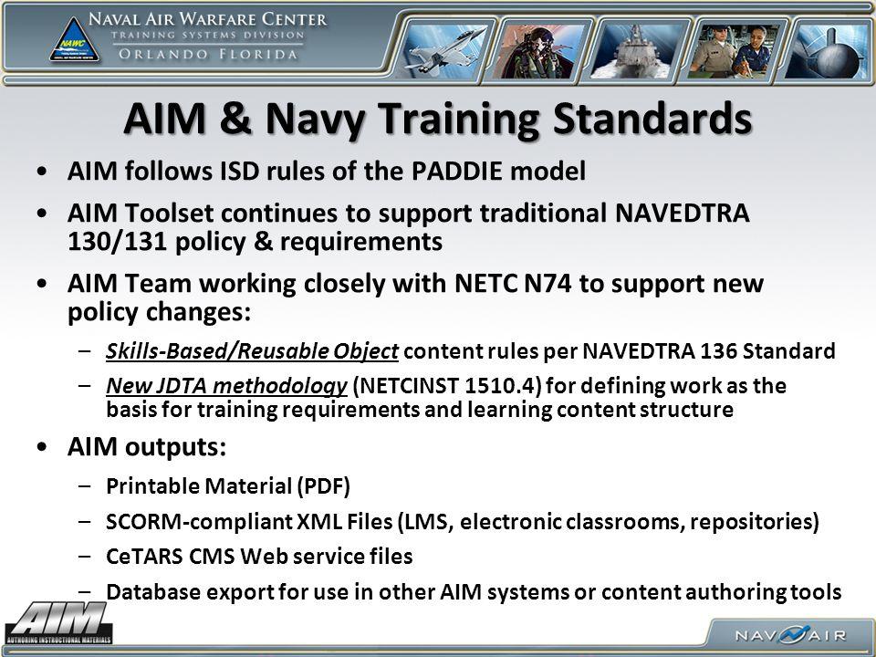 AIM & Navy Training Standards