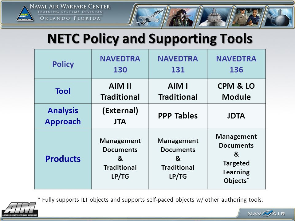 NETC Policy and Supporting Tools