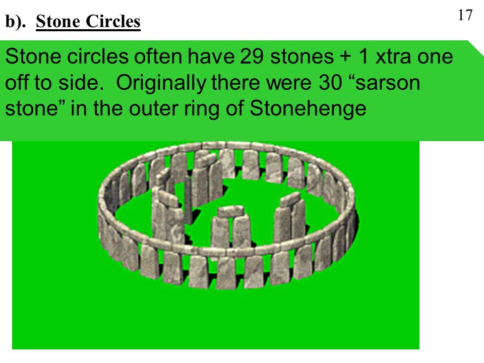 b). Stone Circles 17.