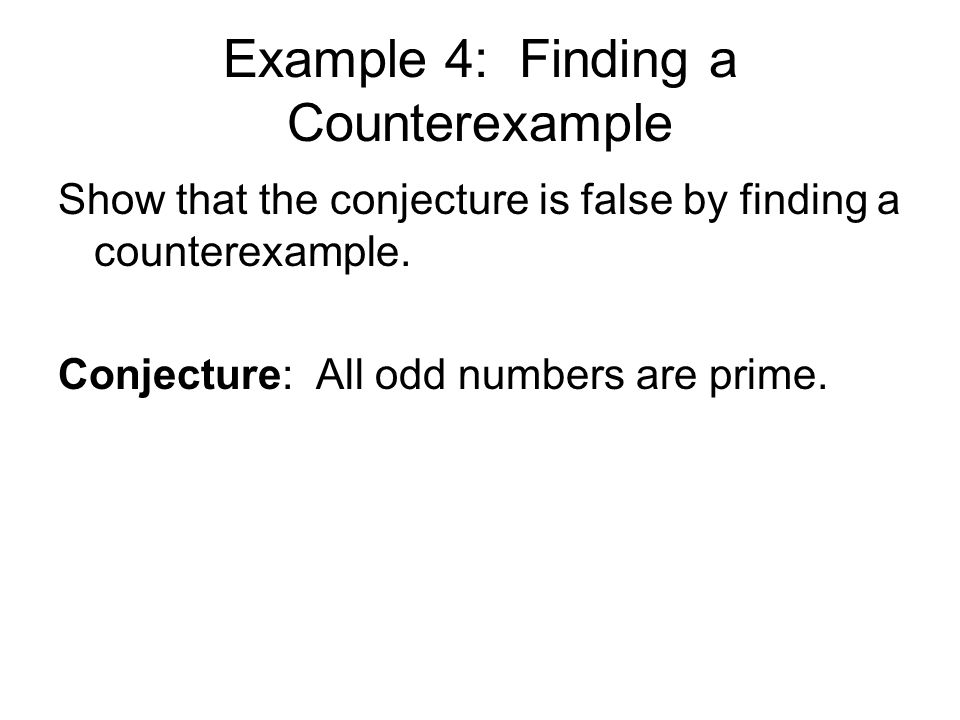 Example 4: Finding a Counterexample