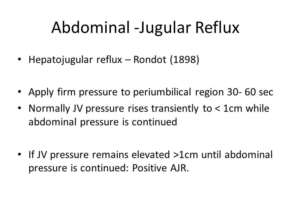 Abdominal -Jugular Reflux