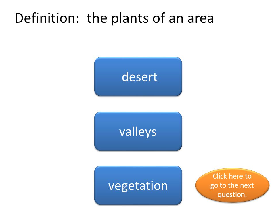 Definition: the plants of an area