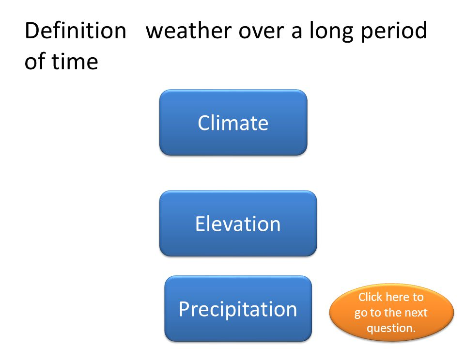 Definition weather over a long period of time