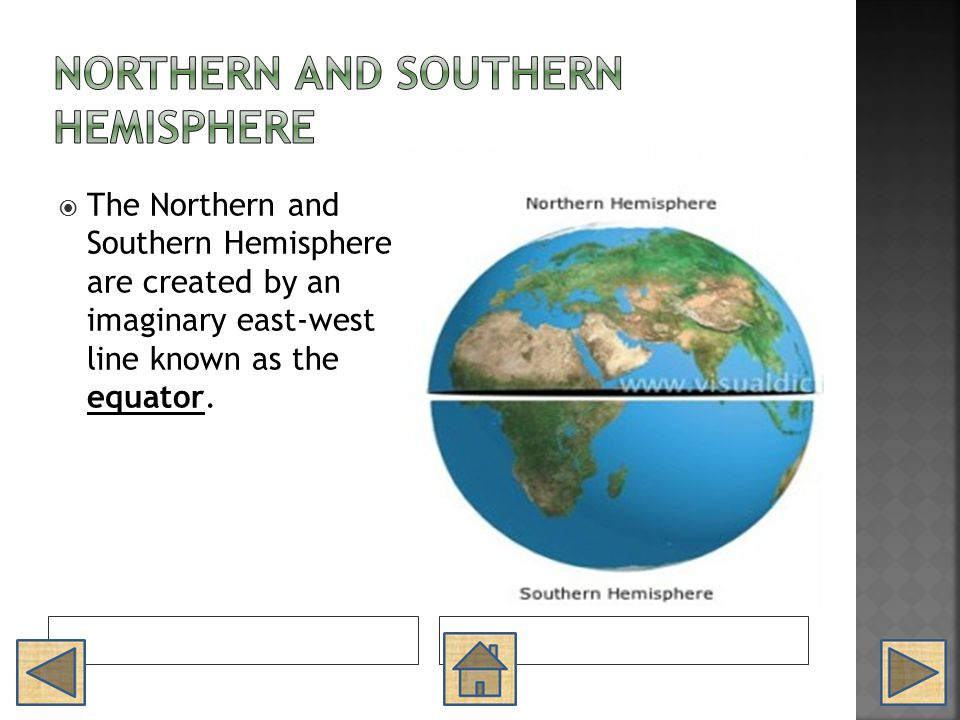 Northern and Southern Hemisphere