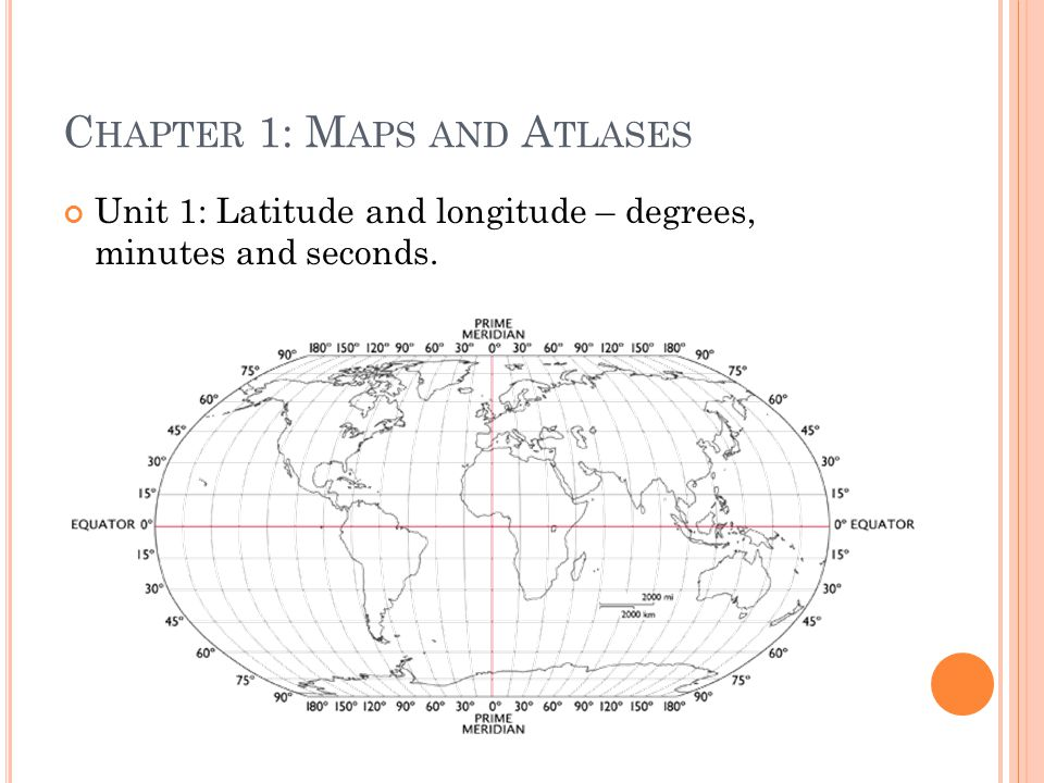 Chapter 1: Maps and Atlases