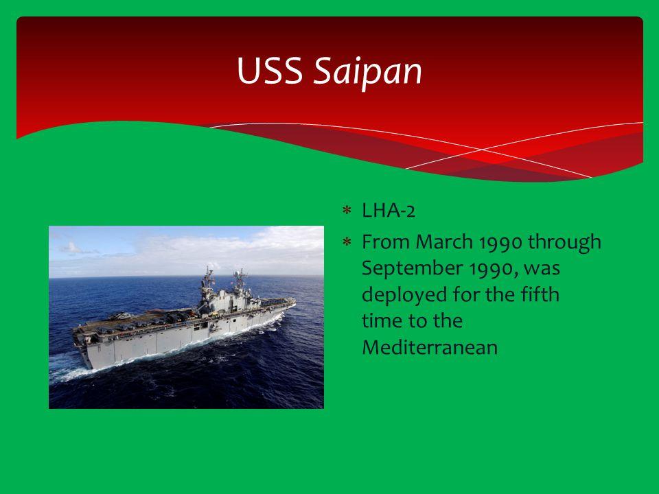USS Saipan LHA-2.