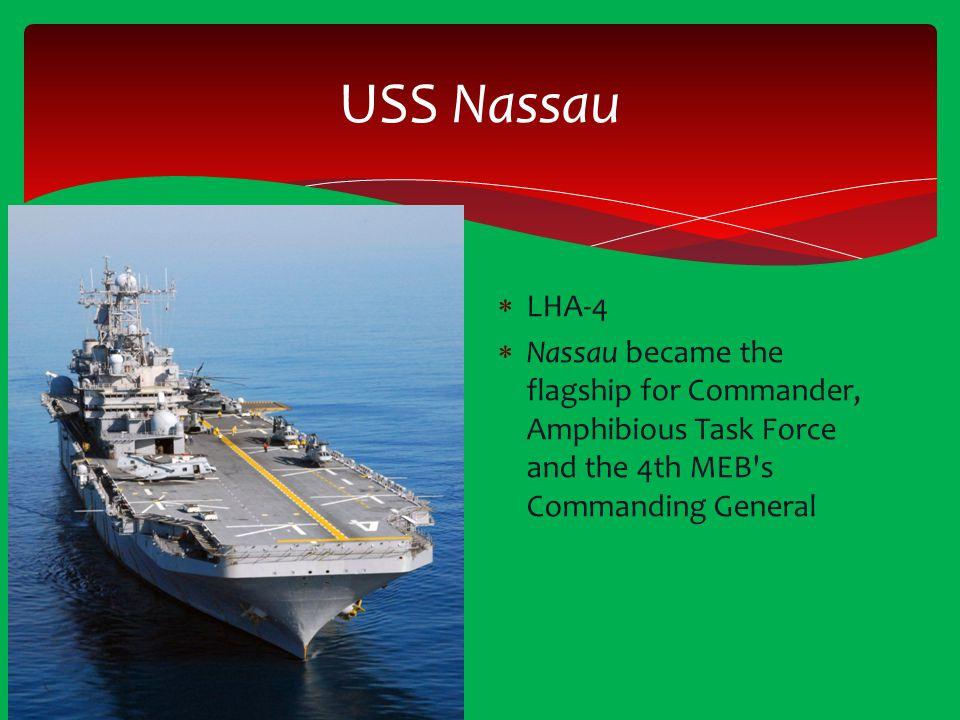 USS Nassau LHA-4.