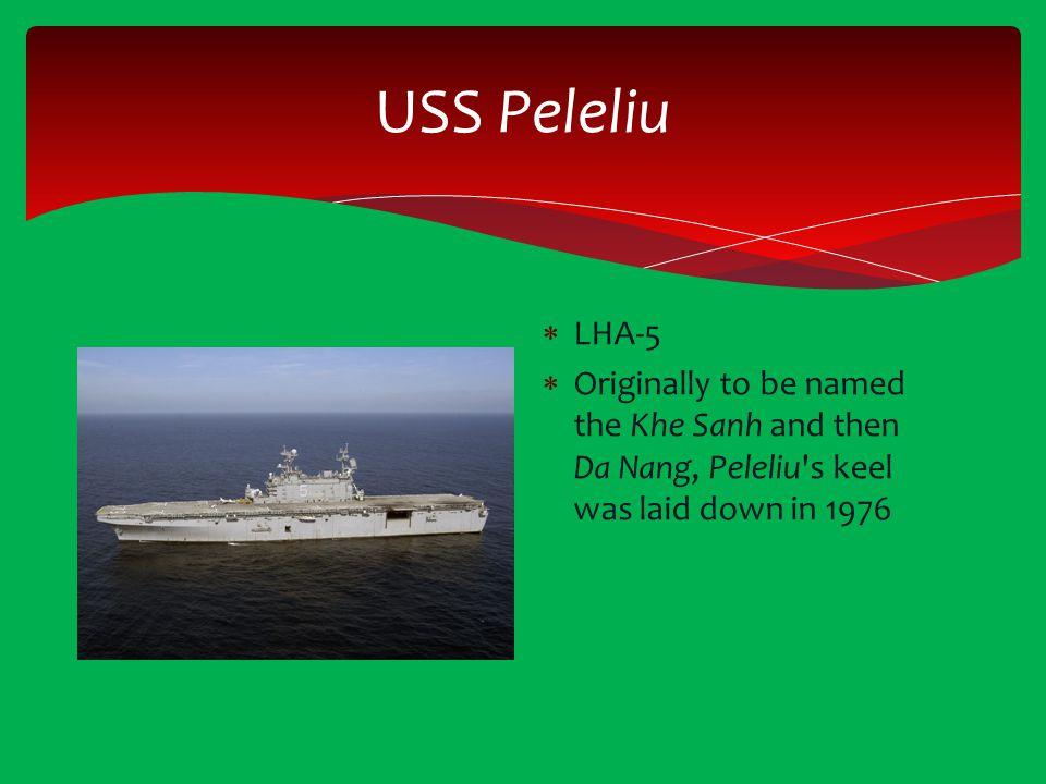 USS Peleliu LHA-5.